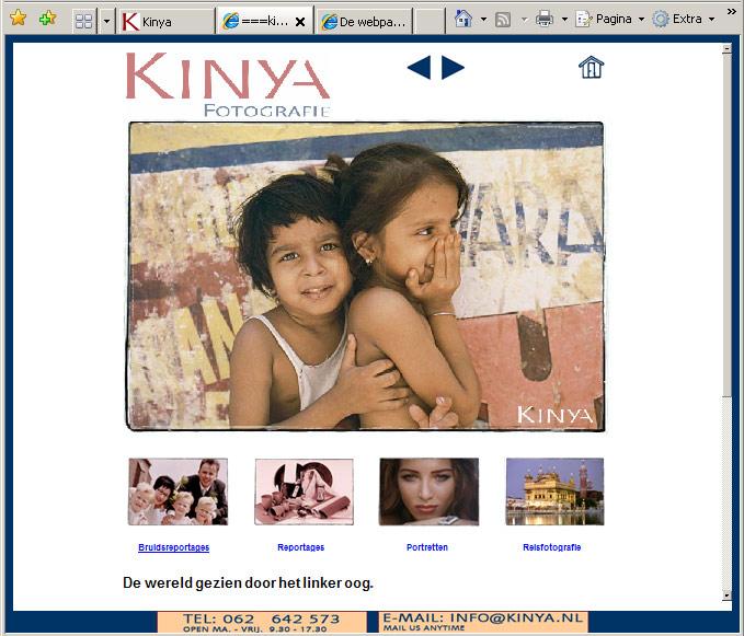 Oude website Kinya.nl
