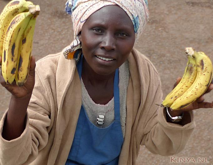 Bananenverkoopster in Voi