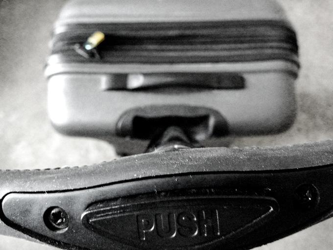 Koffer met Chinees slotje