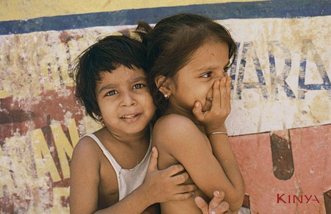 Kids in Varanasi, India