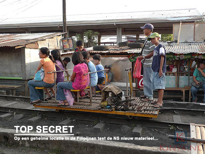 Hightech train in Naga, the Philippines