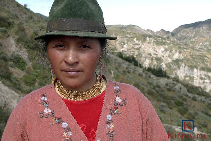 Ecuadoriaanse met hoed