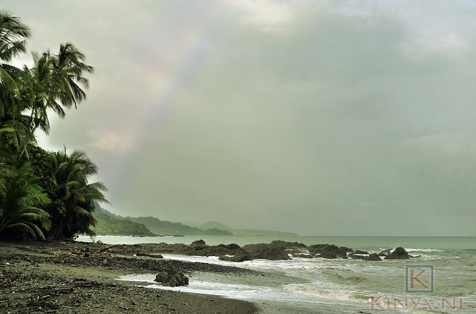 Rainbow at beach Montezuma, Costa Rica