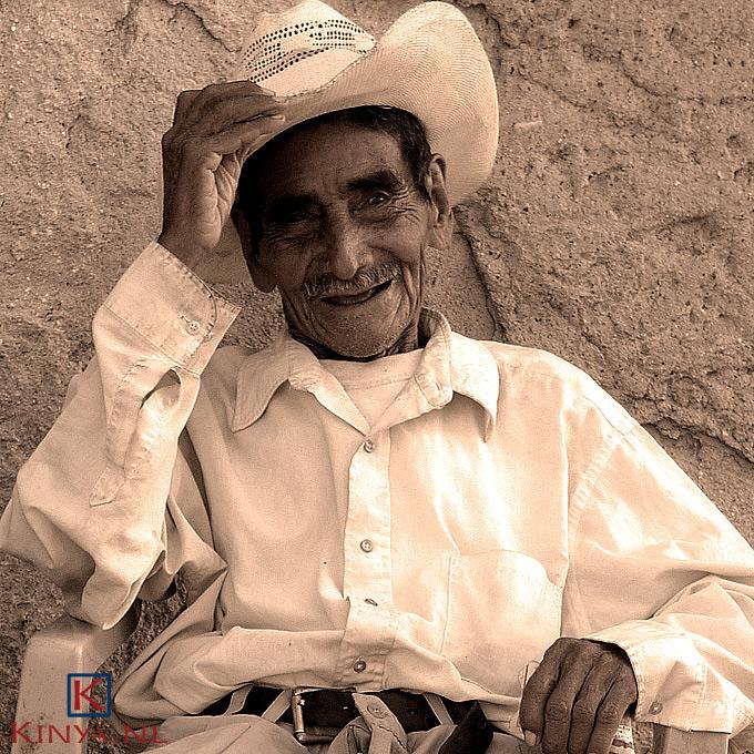 Oude cowboy