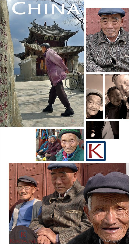Het prachtige Bai volk nabij Dali, China
