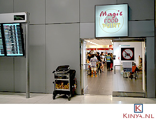 Eten op de luchthaven
