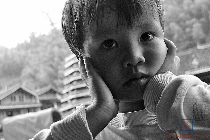Bright eyes Chinese kid in rural China