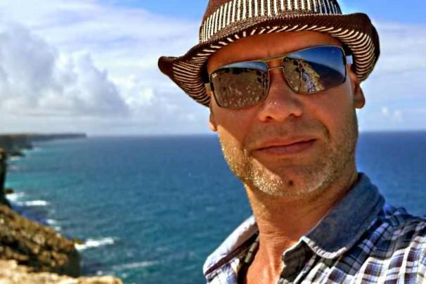 Richard Onnes aan de zuidkust van Australië
