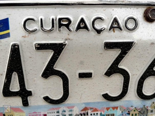 Nummerplaat Curacao