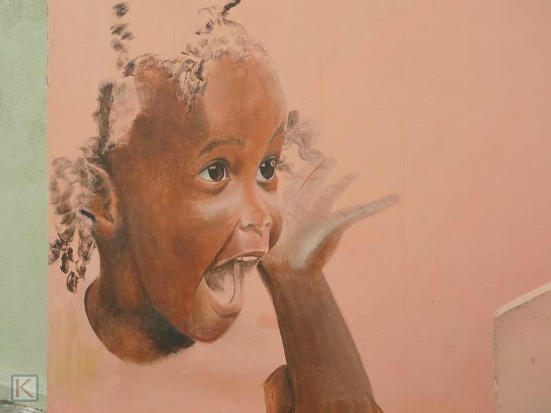 Muurschildering op Curacao