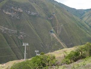 Kabelbaan naar Kuelap in noord-Peru